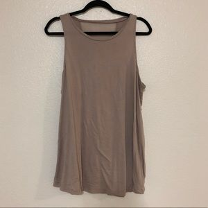 dusty rose blush tank top sheer active TORRID